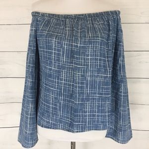 Cloth & Stone Chambray Off the Shoulder Top